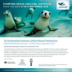 3rd International Conference on Marine Mammal Protected Areas